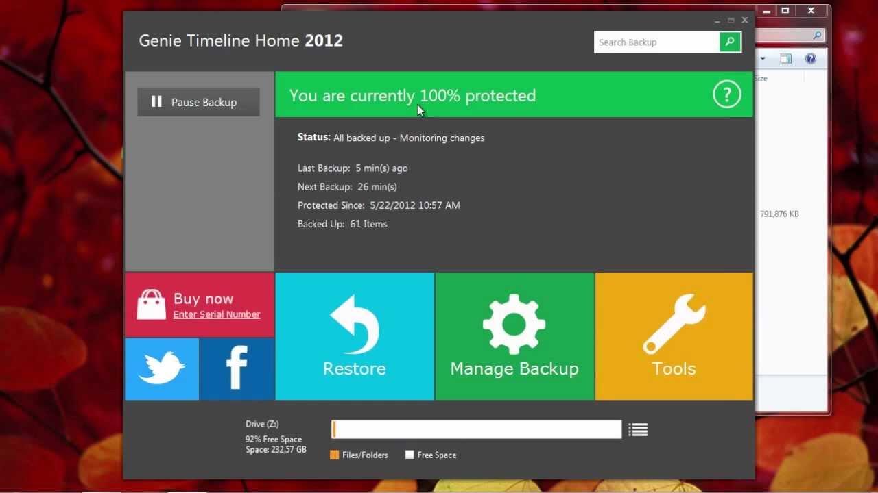 Alternative for Time Machine on Windows: Genie Timeline - YouTube