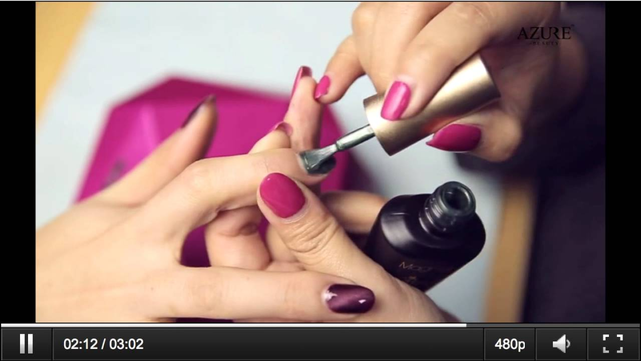 How to Apply Azure Magnetic Gel Nail Polish \