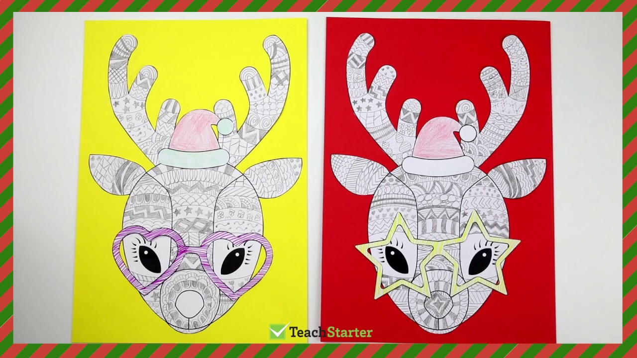 Reindeer Template | Christmas Craft Idea Funky Reindeer Free Template
