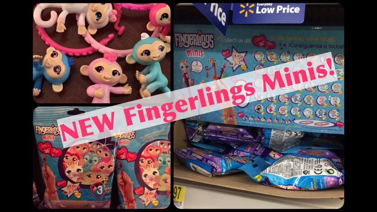 NEW Fingerlings Minis By WowWee Opening Mini Blind Bags With UPC Info For Your Walmart Hunting