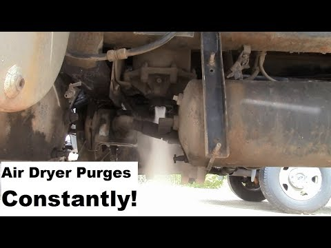 Truck Repairs: Air dryer purges constantly