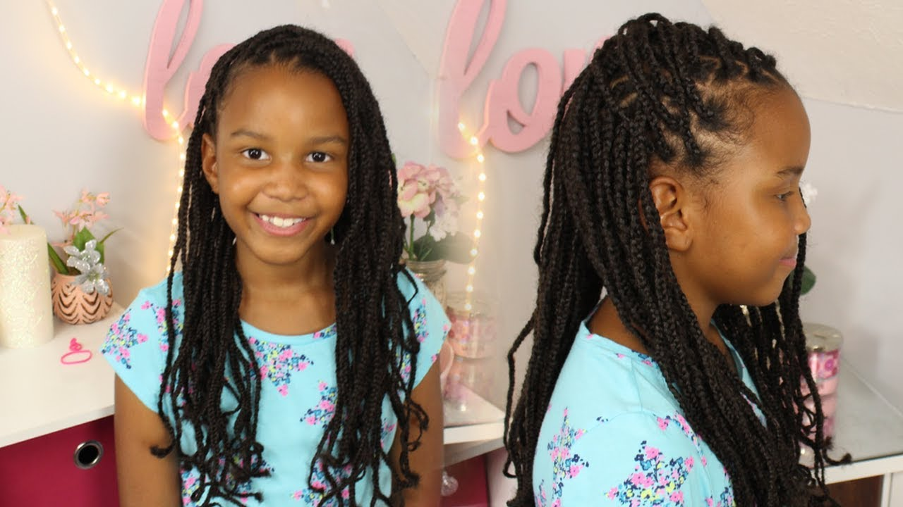 You do box with braids marley hair foto