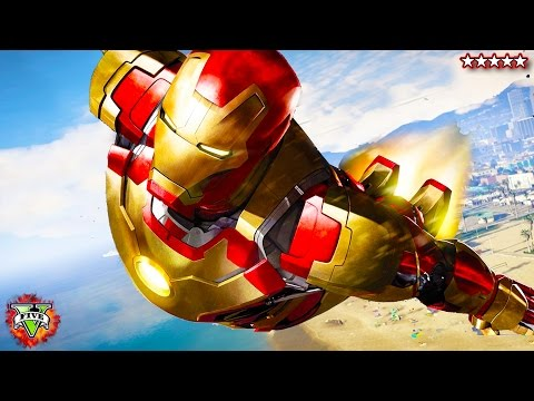 GTA 5 PC Mods - IRONMAN MOD Destruction!!! GTA 5 Iron Man Mod ! (GTA 5 Mods)
