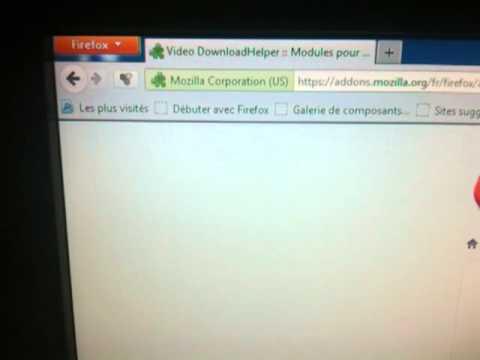 Installation et utilisation de downloadhelper sur Firefox