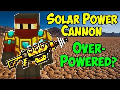 Solar Power Cannon OVERPOWERED? Pixel Gun 3D Gameplay PG3D