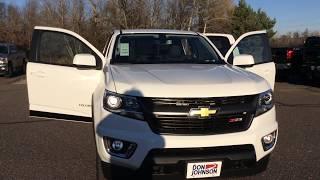 2018 Chevrolet Colorado Z71 4WD Summit White (H18036)