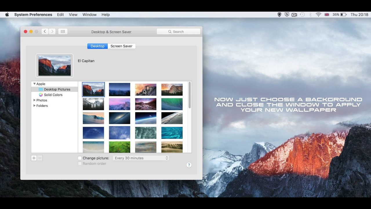 How To Change Your Desktop Background Wallpaper On Mac OS X Tutorial