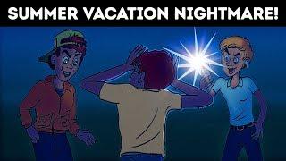 SUMMER VACATION NIGHTMARE. HORROR STORY ANIMATED