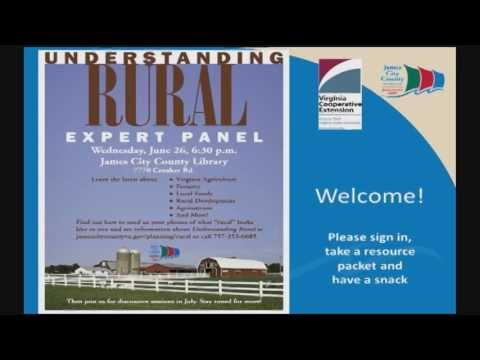 Understanding Rural: Expert Panel (part 1)
