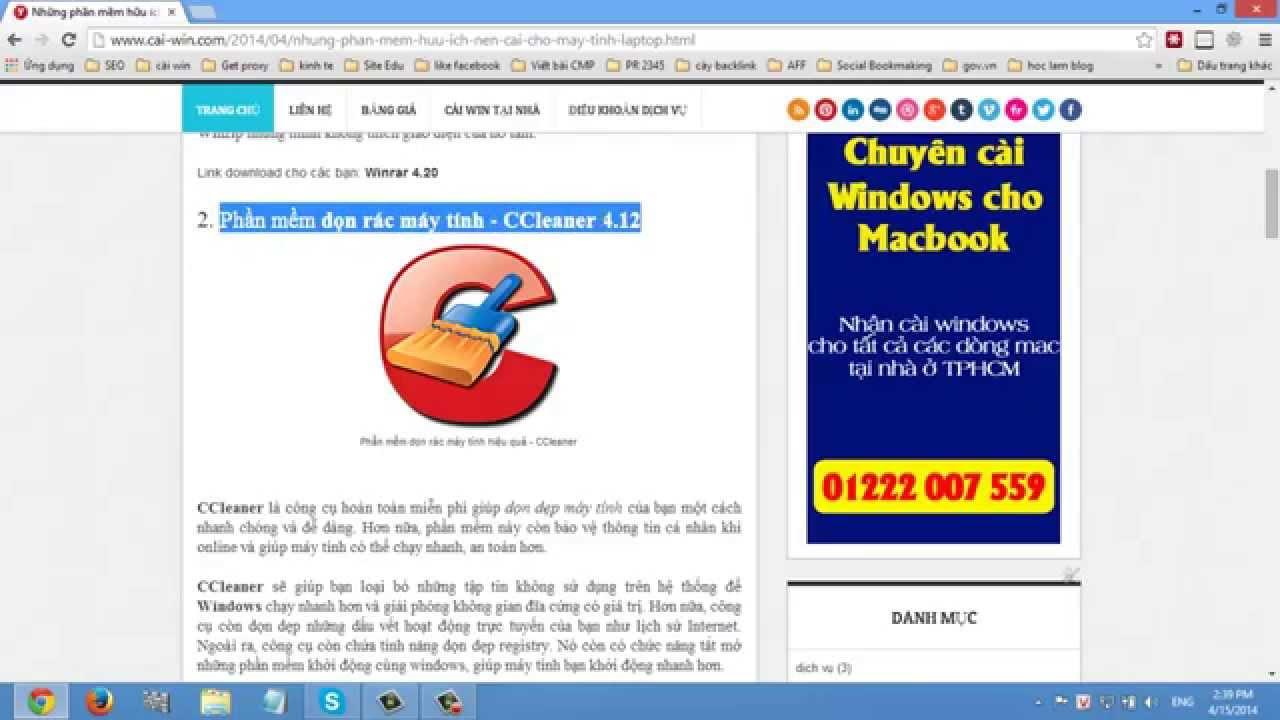 Những phần mềm hữu ích nên cài cho windows