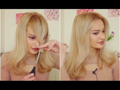 how to cut bangs youtube