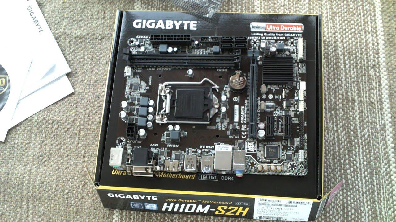 GIGABYTE GA-H110M-S2H Unboxing & Preview - YouTube