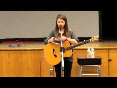Hayley Reardon visits Big Rapids Middle School