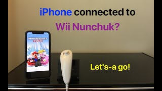 iPhone connected to Wİi Nunchuk? Let's-a go!