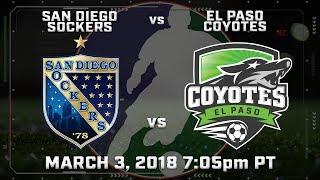 San Diego Sockers vs El Paso Coyotes