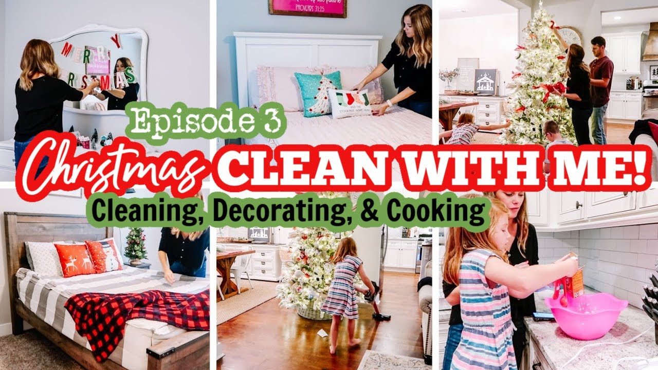 2020 CHRISTMAS CLEAN & DECORATE + EASY RECIPES | JOLLY CLEAN WITH ME Episode 3 | Amy Darley
