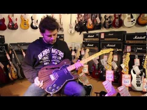 Fender Modern Player Thinline Deluxe Telecaster Electric Guitar Review at Derringers Music