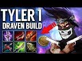 1 SHOT EVERYONE WITH TYLER1 KLEPTO DRAVEN - RUNES AND BUILD