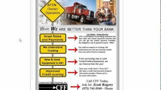 Commercial Truck Trader Financing? As Seen On Commercial Truck Trader - Semi, Big Rig, Heavy Duty