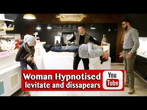 Hypnosis Live: woman levitate and dissapear NEW 2017