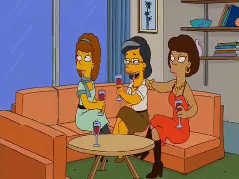 nue lesbian Simpson marge