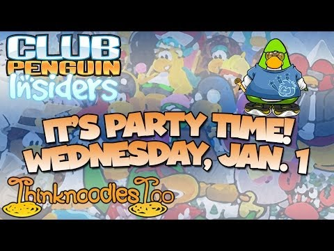 Club Penguin New Year's Day Party Livestream!