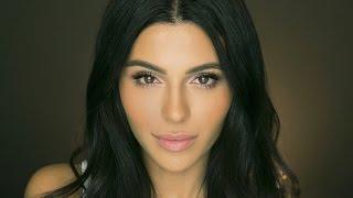 natural makeup tutorial with false lashes   eye makeup   teni panosian