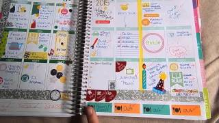 A LOOK AT HOW I USE MY ERIN CONDREN LIFE PLANNER 2015