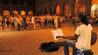Edwin SATISFACTION busking Rimini 29/07/2013