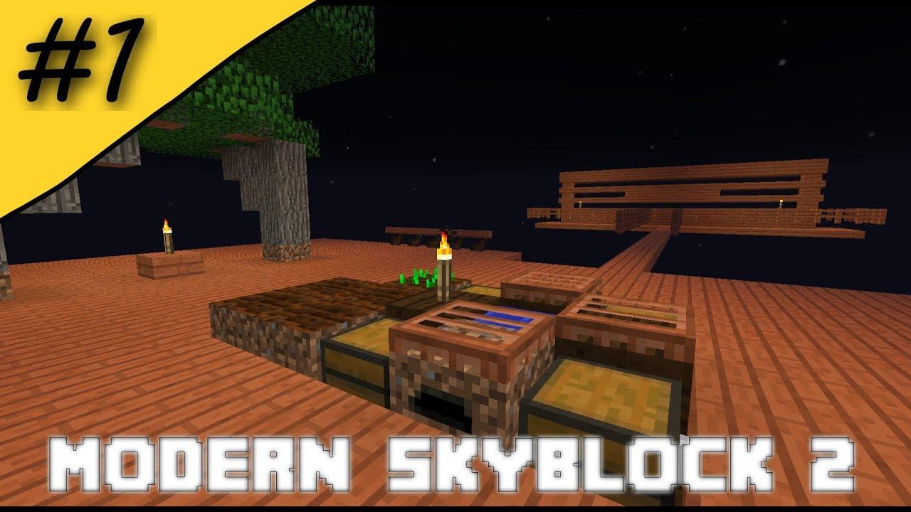 Modern Skyblock 2 - Wood Island Start - #1