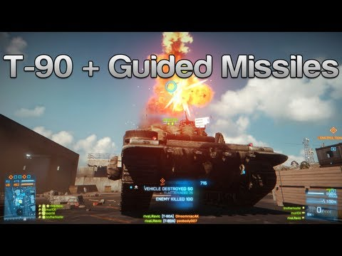 Battlefield 3 T-90 + Guided Missiles on Kharg Island
