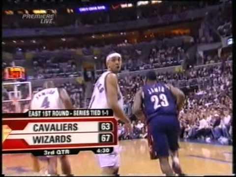 Lebron James 41 pts vs Gilbert Arenas 34 pts, playoffs 2006, cavs vs wizards game 3