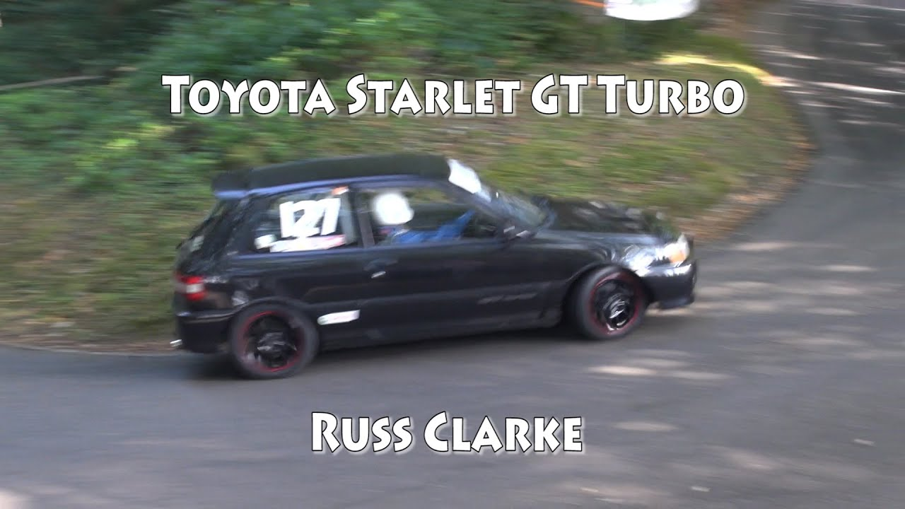 Toyota Starlet GT Turbo at the 5 clubs Hillclimb meeting Wiscombe Park  September 2014 Russ Clarke