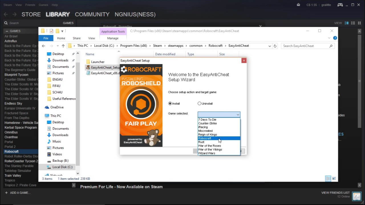 How-To: Reinstall EasyAntiCheat for Robocraft - YouTube