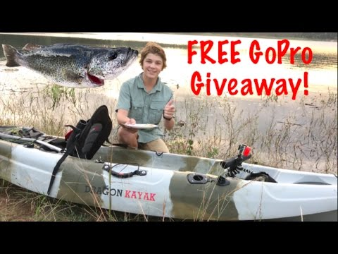 Kayak Perch Fishing - Catch n Cook!  - GoPro Giveaway!!