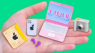 10 DIY Barbie Hacks and Crafts / Miniature IPhone 12, MacBook and More!