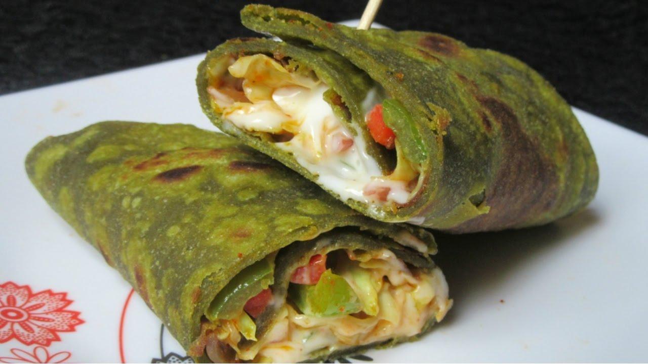 how to make veg kathi roll
