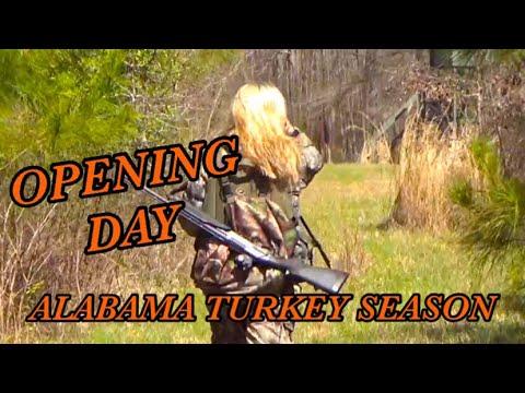 OPENING DAY 2018 ALABAMA TURKEY SEASON 🦃🦃🦃 at Hollis Farms!!