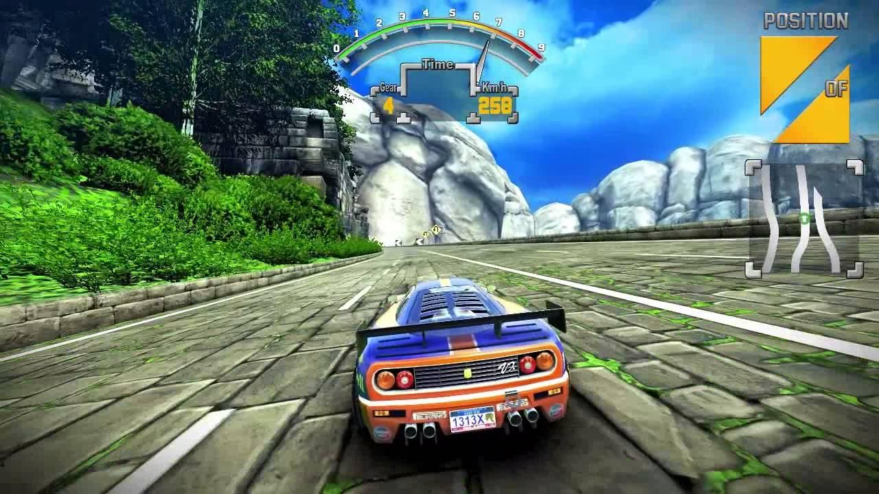 90s Arcade Racer 60fps Wii U gameplay