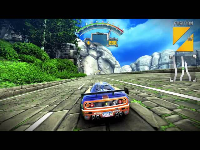 90s Arcade Racer 60fps Wii U gameplay