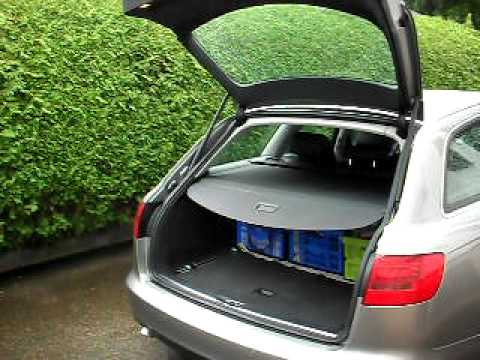 automatisch ffnende heckklappe audi a6 avant 4f youtube. Black Bedroom Furniture Sets. Home Design Ideas