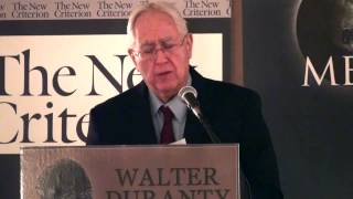 Ron Radosh at the Second Annual Walter Duranty Awards