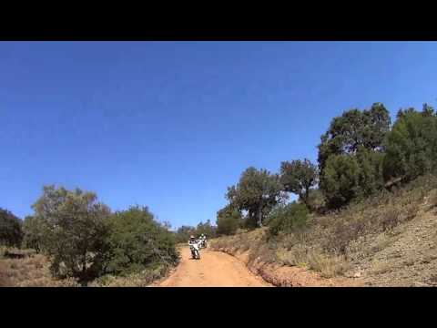 Neal And Paul trail riding with Dirt Bike Holidays