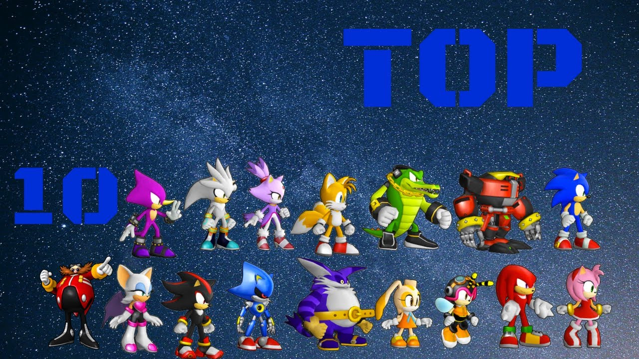 Top 10 Sonic The Hedgehog Characters Youtube