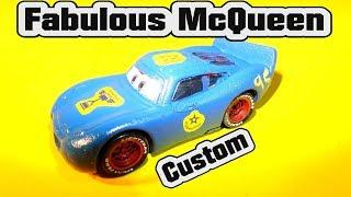 Pixar Cars 3 Fabulous Lightning McQueen Custom Paint Job with Primer McQueen from Pixar Cars
