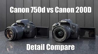 Canon EOS vs  Canon EOS 750D - YouTube
