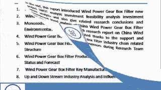 Bharat Book Presents : 2013 Deep Research Report on China Wind Power Gear Box Filter