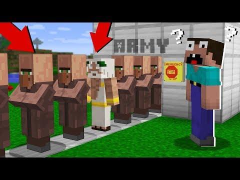 Clone Army VILLAGER! In Minecraft Noob Vs Pro