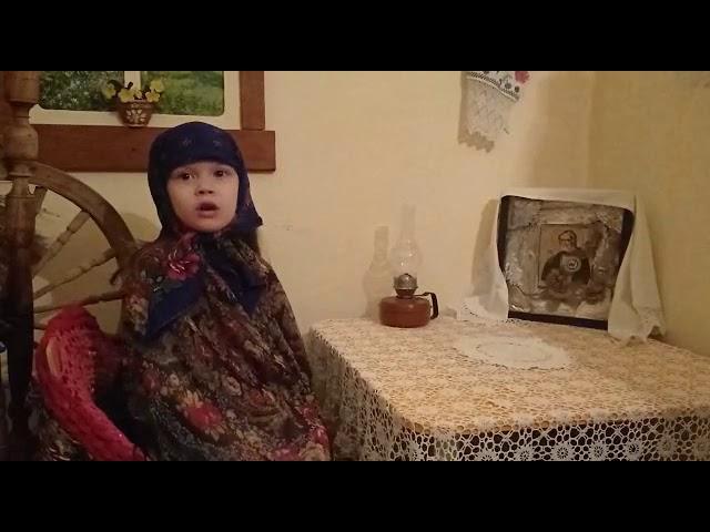 Изображение предпросмотра прочтения – АринаМиронова читает произведение «Молитва матери» С.А.Есенина