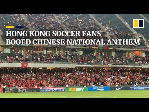Hong Kong soccer fans boo Chinese national anthem